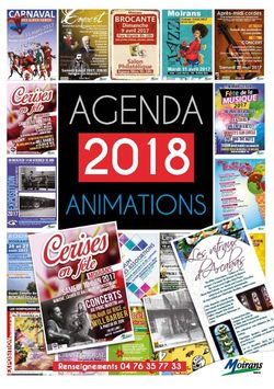 Agenda des animations 2018