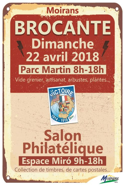 Brocante et salon philatélique