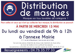 La distribution des masques continue
